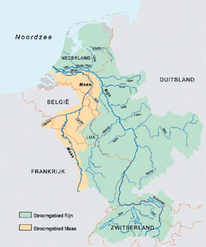 Special Tours In Holland And Belgium - Netherlands rivers map